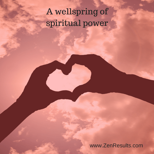 spiritual power is a wellspring within you